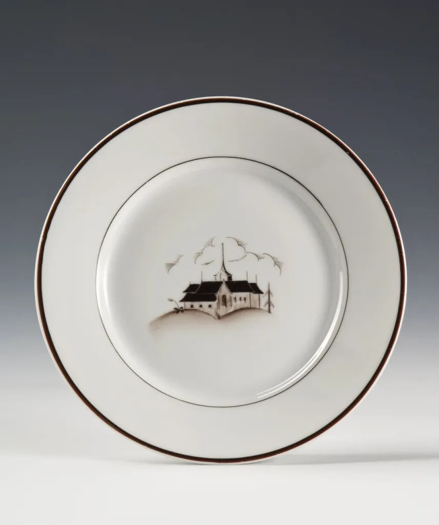 Plate, 1928 designed by Nora Gulbrandsen