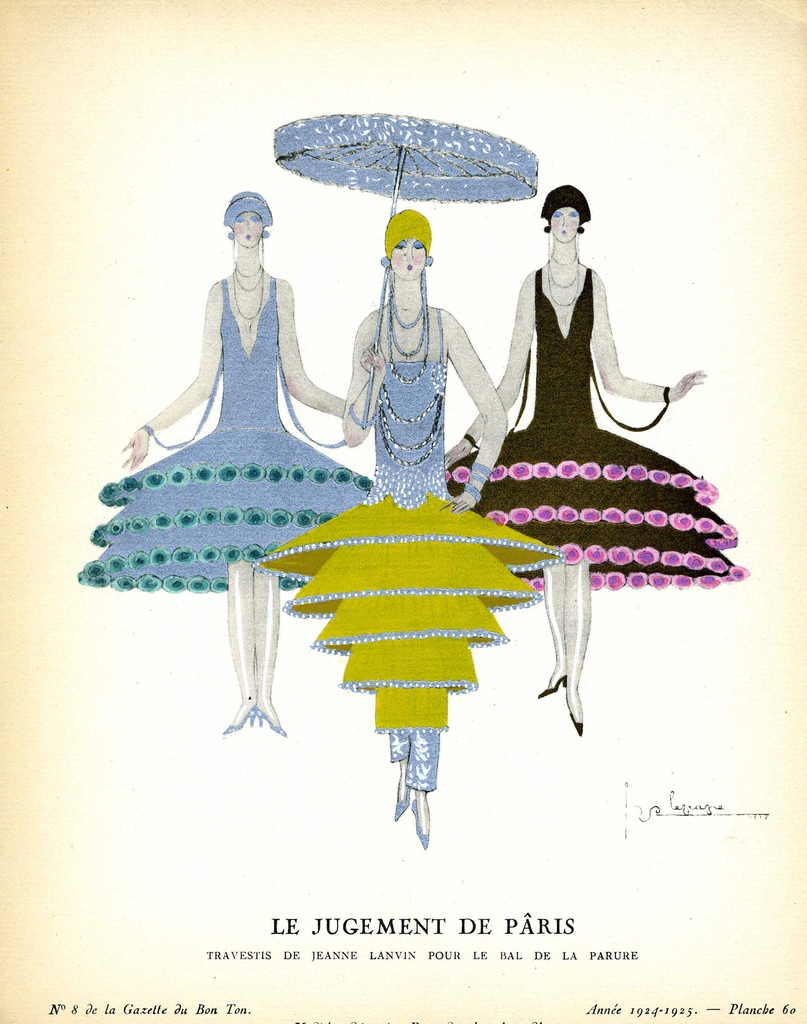 Fashion plate by Georges Lepape
