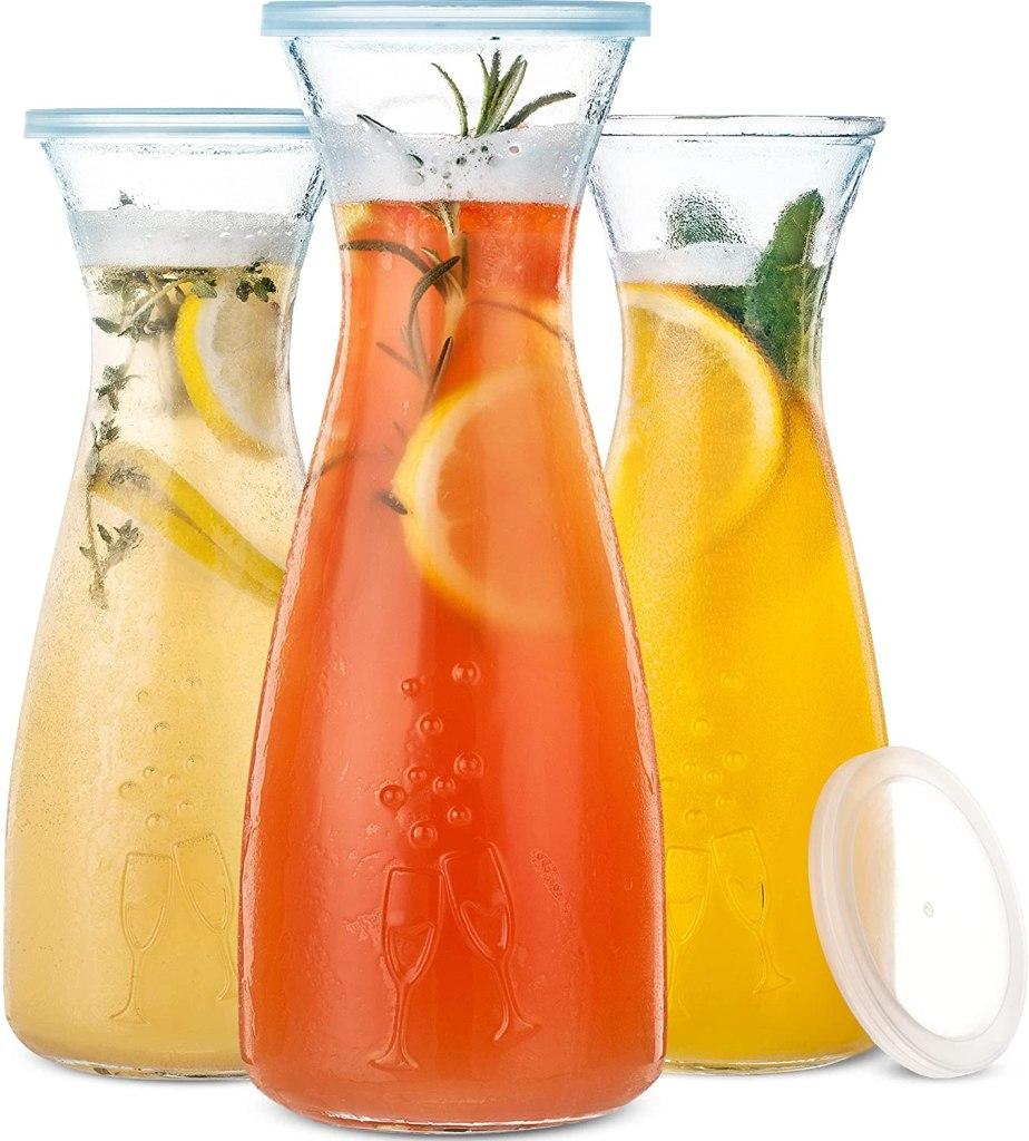 PRESTIGE Mimosa Bar Glass Carafe With Lids