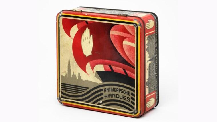 Biscuit Tin for 'Antwerpse Handjes' biscuits
