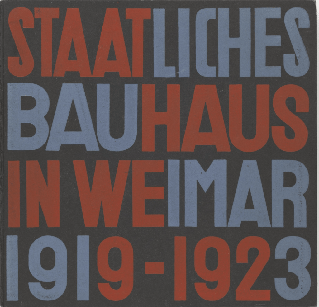 Staatliches Bauhaus in Weimar 1919-1923, 1923 by László Moholy-Nagy and Herbert Bayer(MoMA)