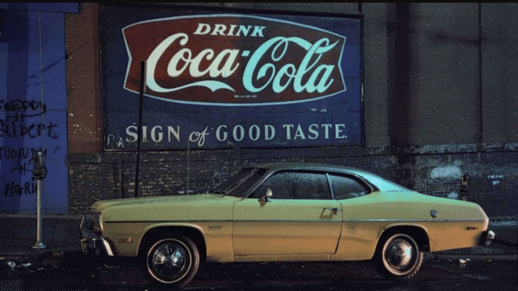Langdon Clay, Sign of Good Taste Duster, Plymouth Duster Hoboken, NJ, 1975