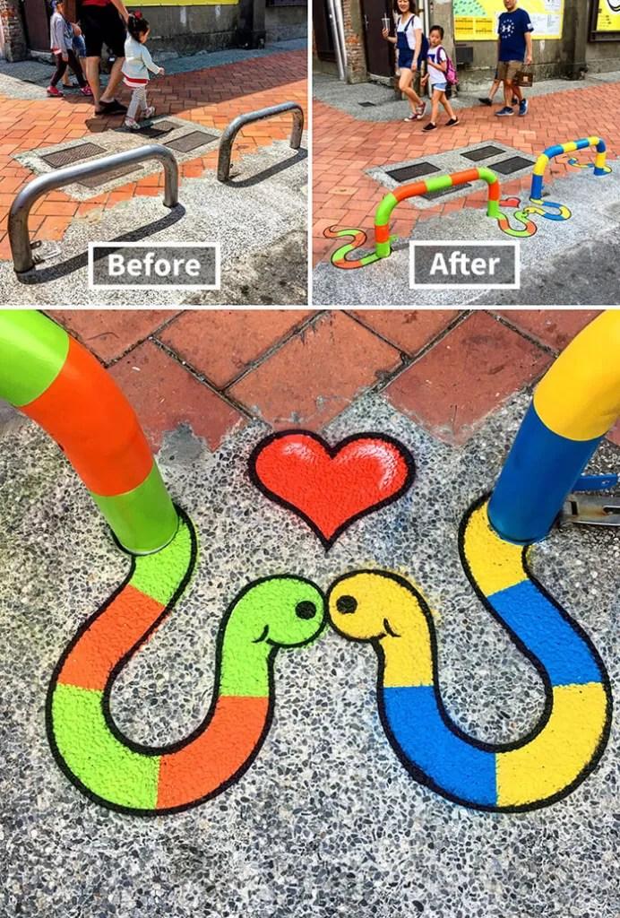 Tom Bob Witty Street Art- Two Snakes