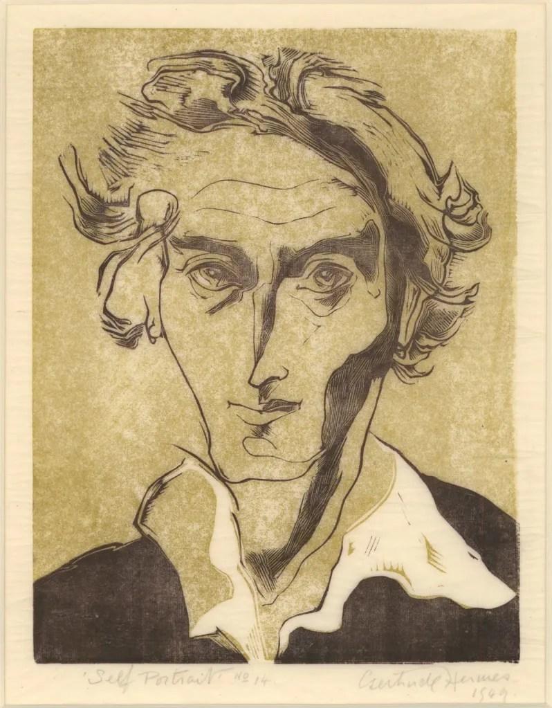 Hermes, Gertrude; Self-portrait