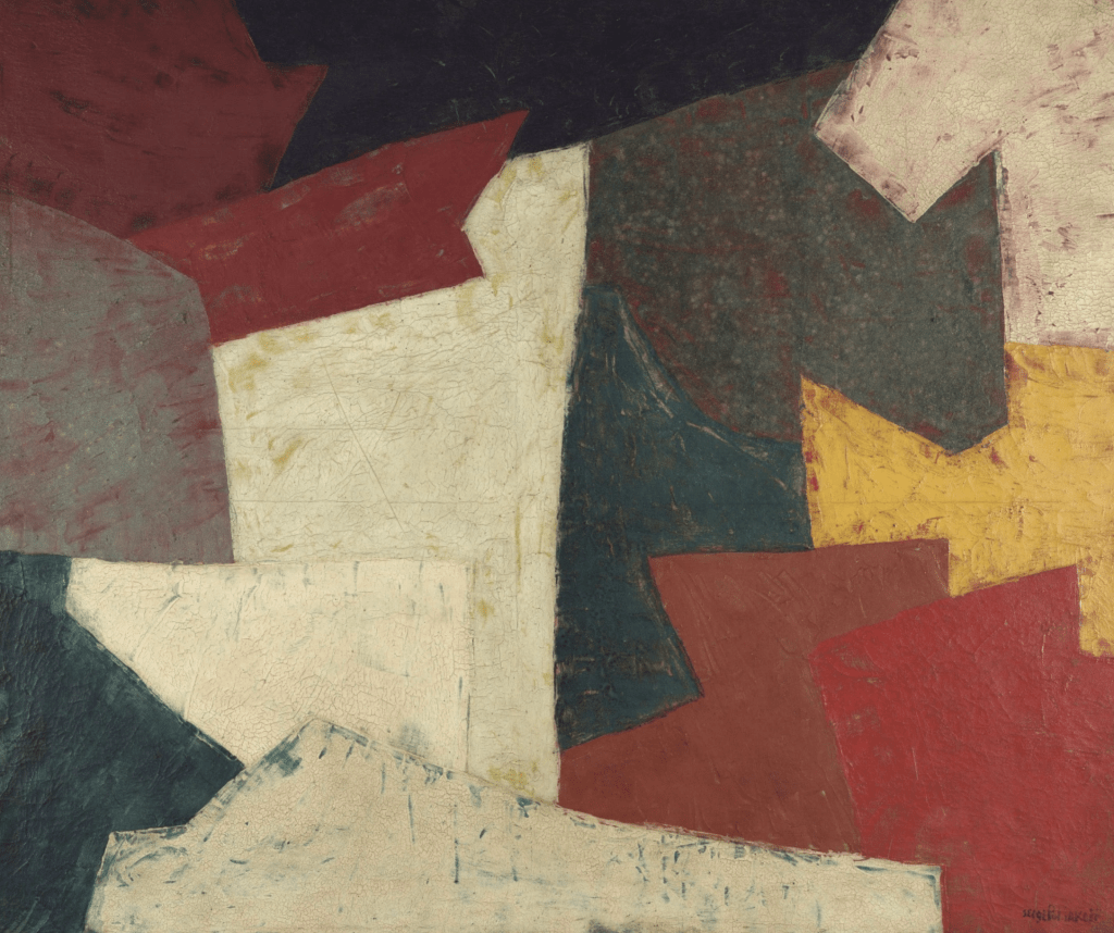 Abstract Composition by Serge Poliakoff and example of Tachisme