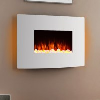 Egton White Wall Mounted Electric Fire - Endeavour Fires ...