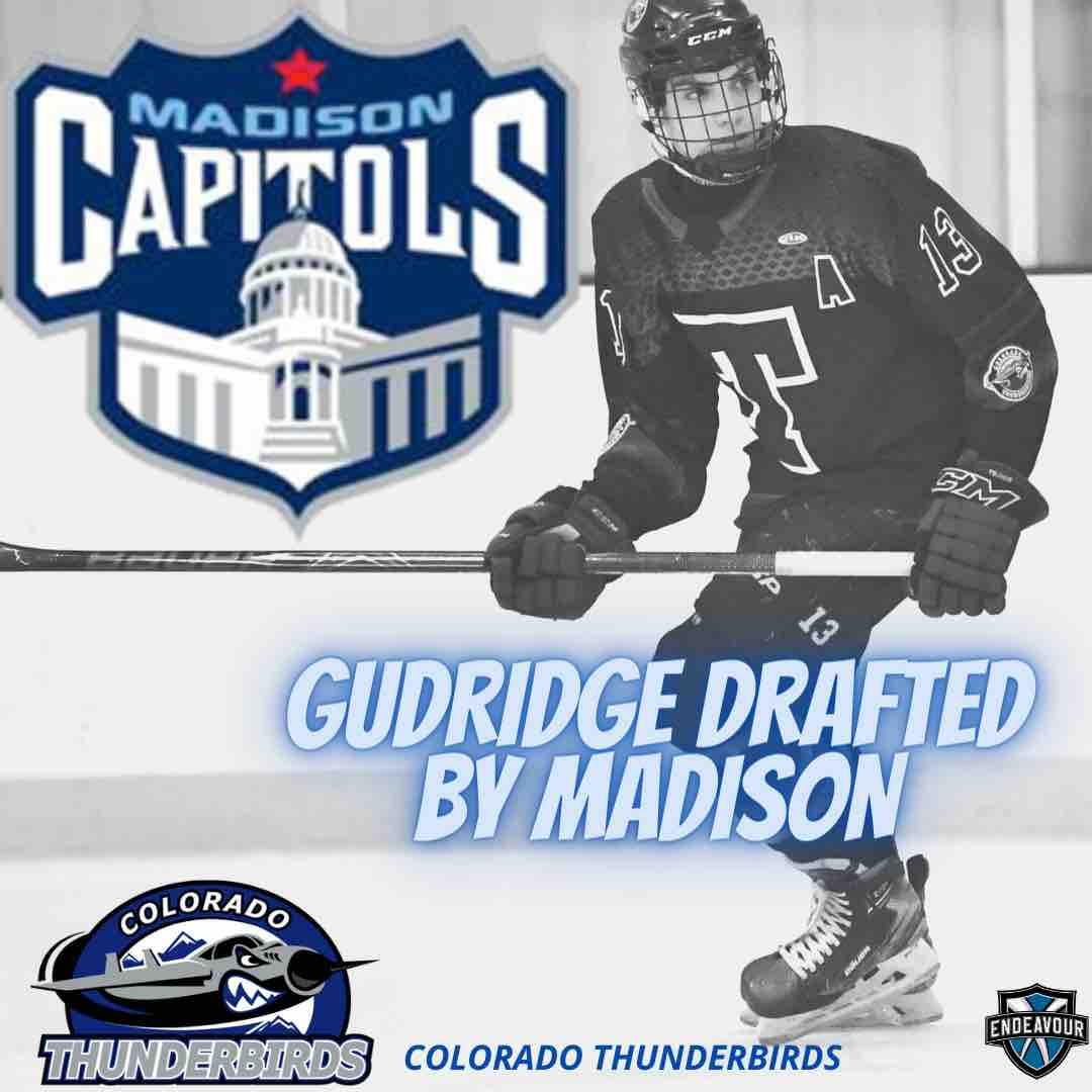 Jordan Gudridge Drafted By Madison Capitals of the USHL