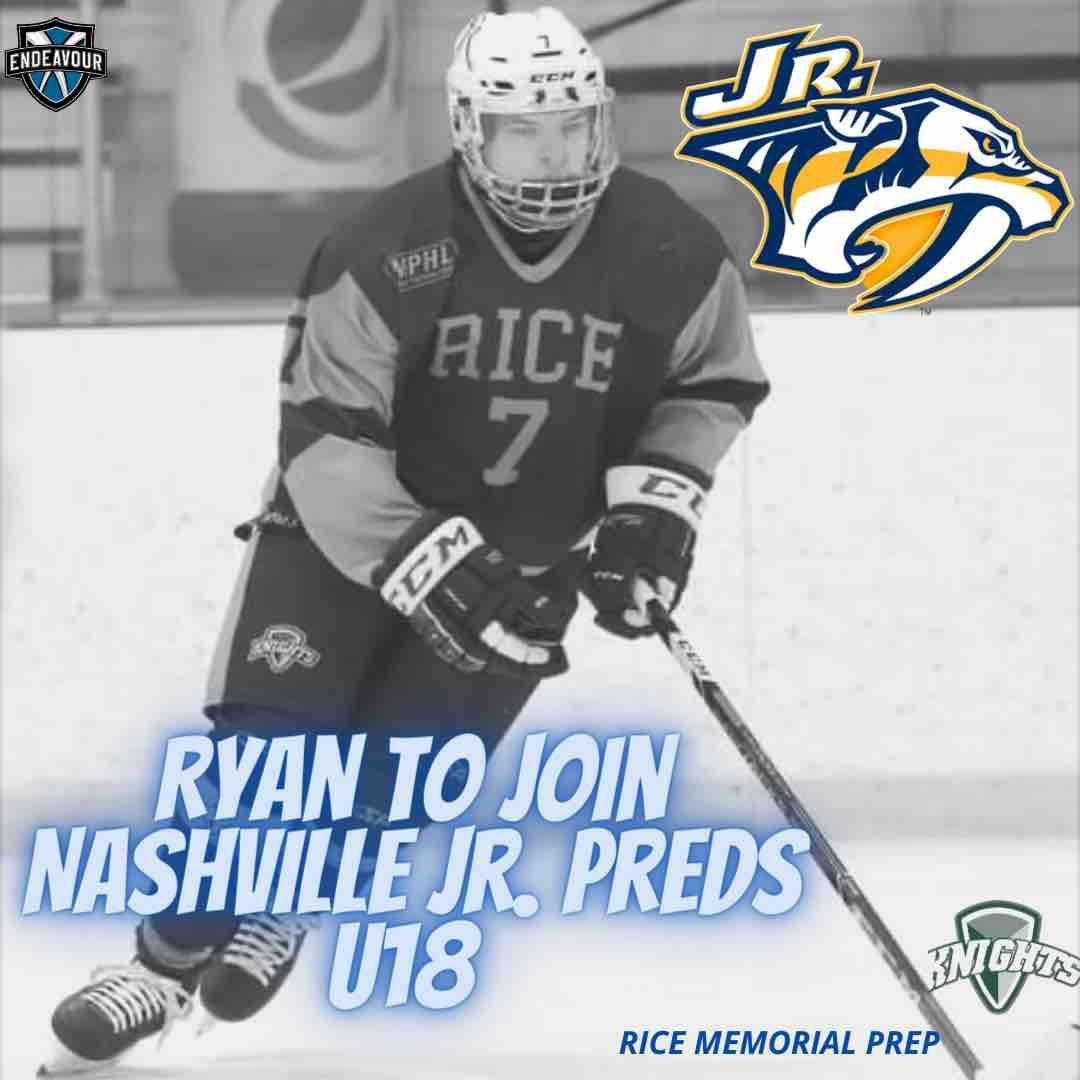 Ryan to Join Nashville Jr. Predators U18