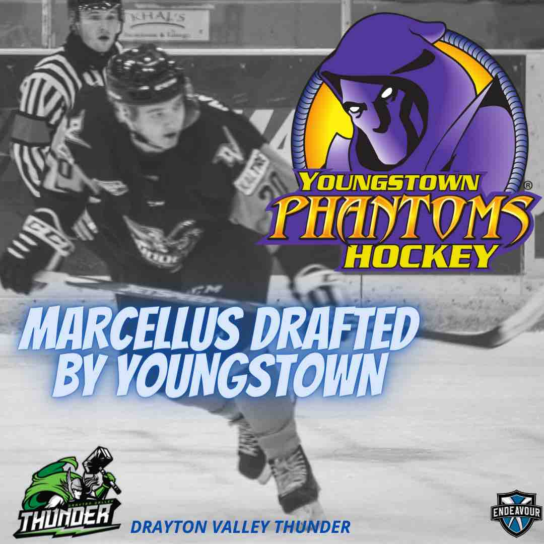 Mason Marcellus drafted to the Yougnstown Phantoms of the USHL
