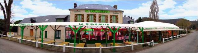 La Guinguette at Amfreville lock, image from their website.