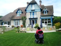 Le Jardin des Plumes restaurant/hotel all wheelchair accessible.