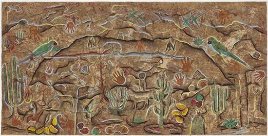 Cecilio Sánchez_Paisaje de Cuicatlán_Arte_Oaxaca_Endemismo