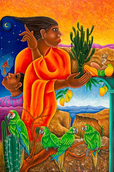 Enrique Flores_Niña de la cañada_Arte_Oaxaca