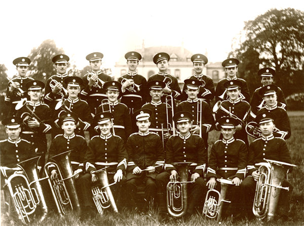 The Enderby Band in 1931 pictured in front of Enderby Hall