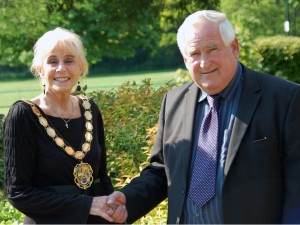 Cllr. Jill Blackwell with Cllr. Barry Garner