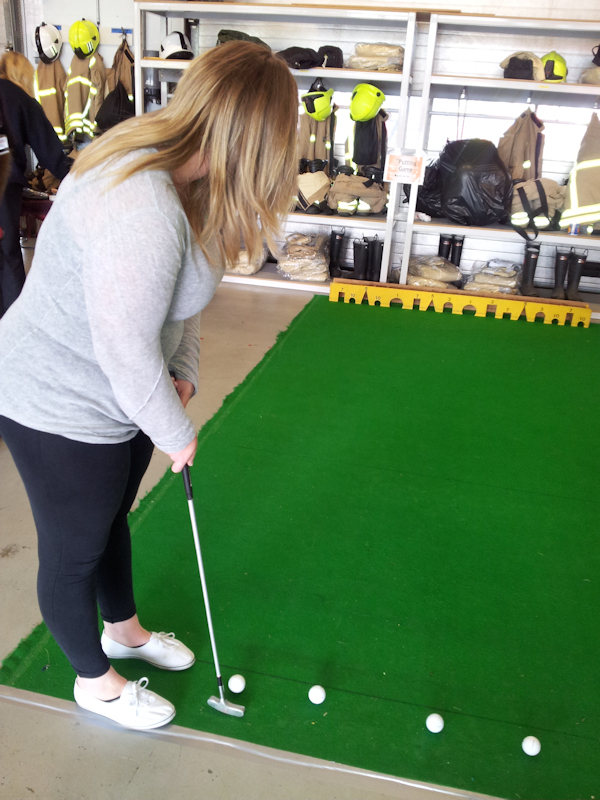 Practice your puttting to win a prize