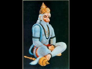 Hanuman Prays