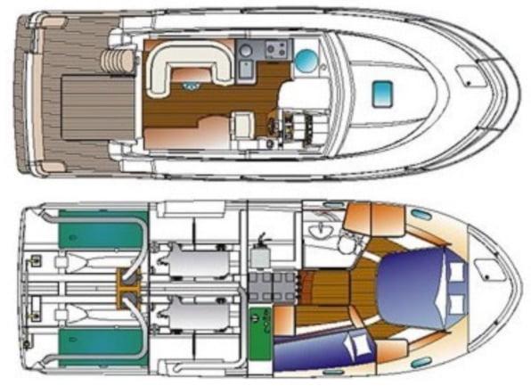 Beneteau Antares 980 layout