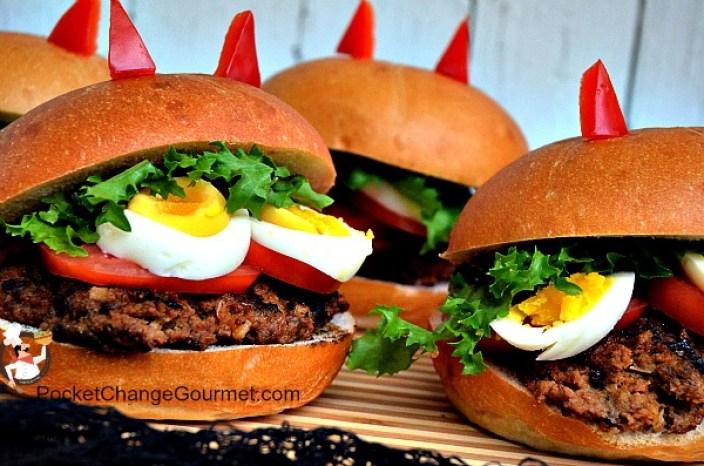 Halloween Themed Deviled Burger