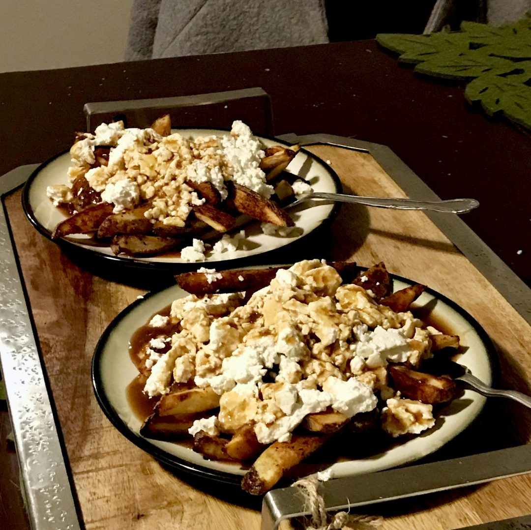 Poutine with fresh cheese curds