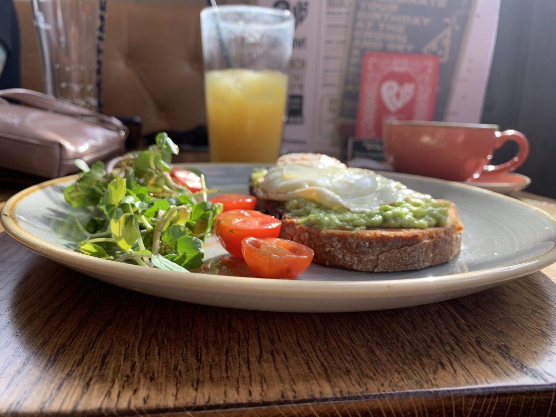 PubLove Avocado Toast with a Fried Egg