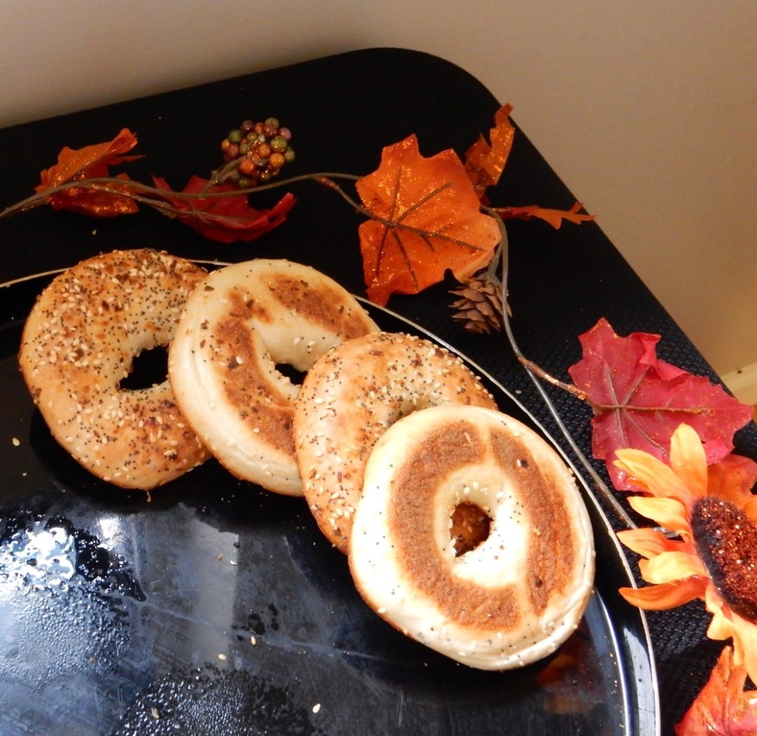 Fall Decorations and Bagels