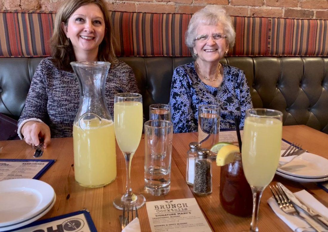 Mimosas and Bloody Mary with Grandma at Urban Tap