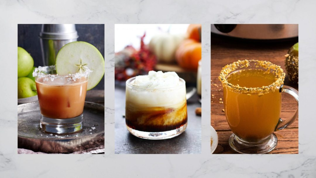Pumpkin Spice White Russian, Salted Caramel bourbon cocktails