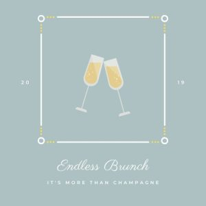 Endless Brunch Champagne Cheers Logo