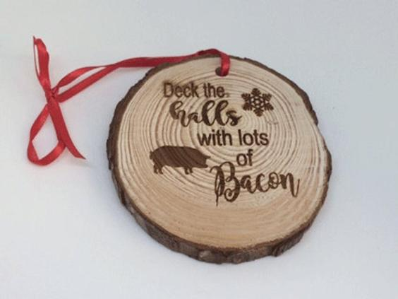 Deck the Halls with Bacon Ornament
