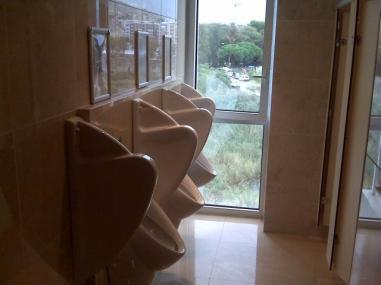 urinal public window