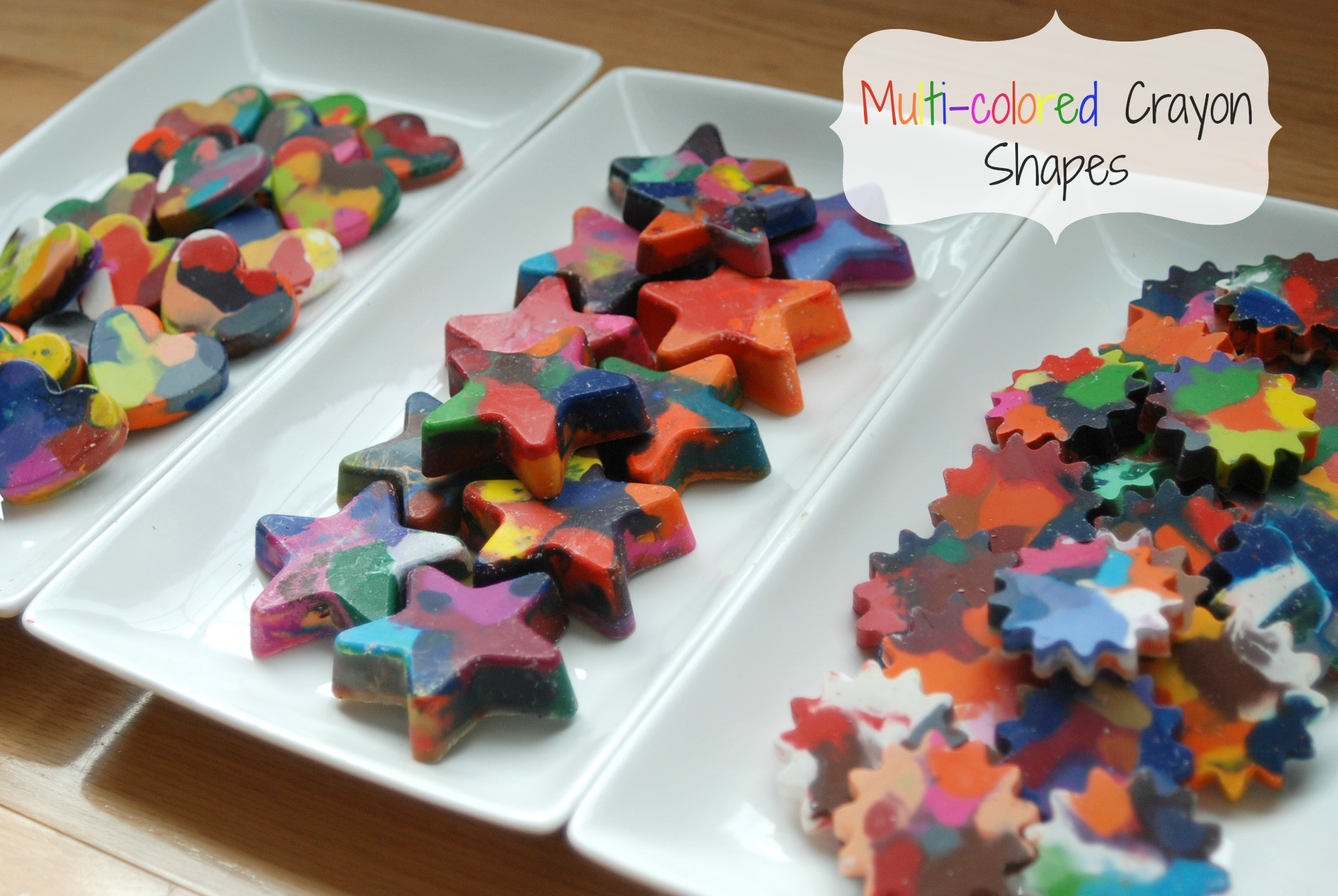 Multi Colored Crayon Shapes