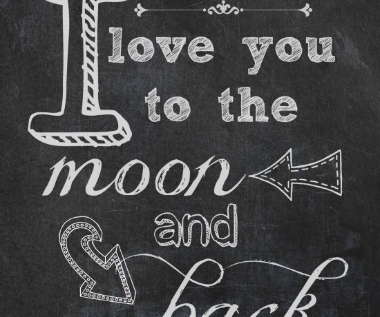 I Love You to the Moon and Back free printable from Endlessly Inspired