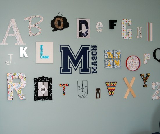 Alphabet Wall from Endlessly Inspired