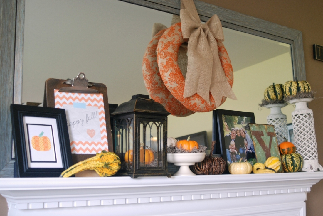 Fall Mantel Endlessly Inspired