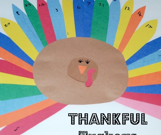 Make cute Thankful Turkeys to teach kids about gratitude and count down to Thanksgiving! Kids write down one thing that they're thankful for each day in November.
