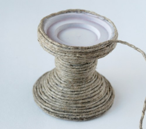 Make a jute-wrapped candle holder out of a thrift-store find. Easy, cheap and looks so great!!