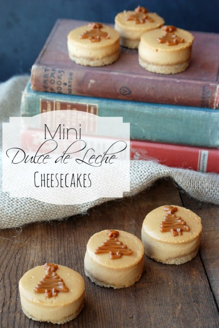 Mini Dulce de Leche cheesecakes made with the Nestle Dulce de Leche Cheesecake baking kit. #PerfectPie #shop