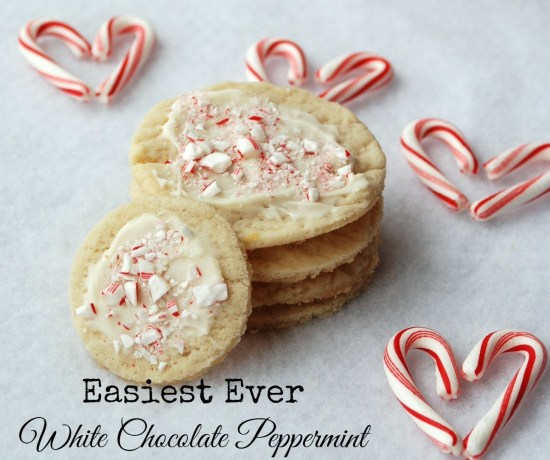 Easiest ever white chocolate peppermint cookies -- plus a genius trick for getting every cookie the same size