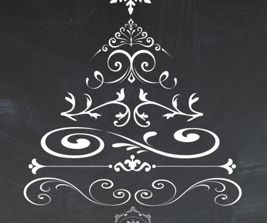 Free chalkboard Christmas tree printable from Endlessly Inspired