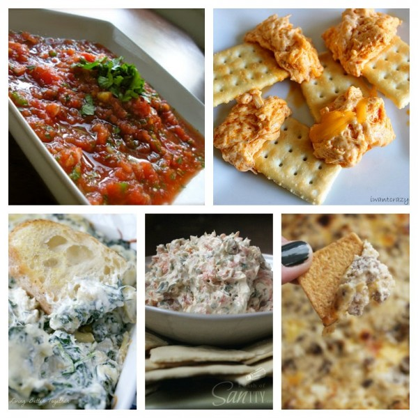 50 delicious dip recipes - there are both savory and sweet ones, so you'll be sure to find the perfect one for your party or tailgate! Definitely using some of these for Super Bowl!