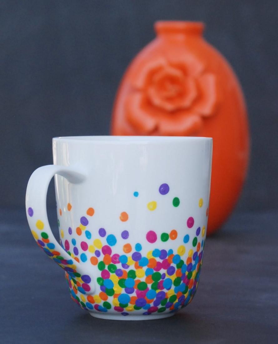 Unique DIY Polka Dot Mug | Endlessly Inspired FW22