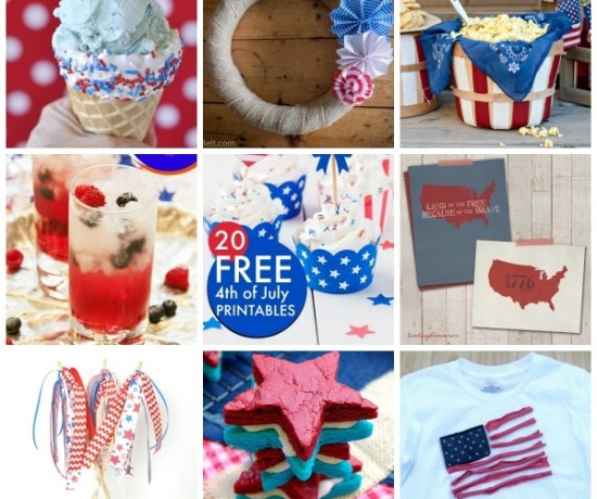 11 Patriotic Crafts & Recipes from the Eat. Create. Party! link party, every Thursday at 8 p.m. on EndlesslyInspired.com