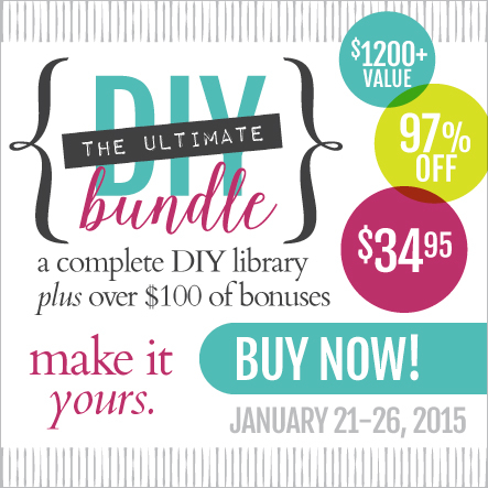 Do you want to be a DIY diva? Do you love a great deal? Then this bundle is for you! Get 76 ebooks & ecourses -- a $1,200 value! -- for only $34.95! That's 97% off! Learn how to decorate the perfect space for your family, make your own skincare products, take and edit amazing photos, create gifts from scratch, sew your own clothes and so much more.