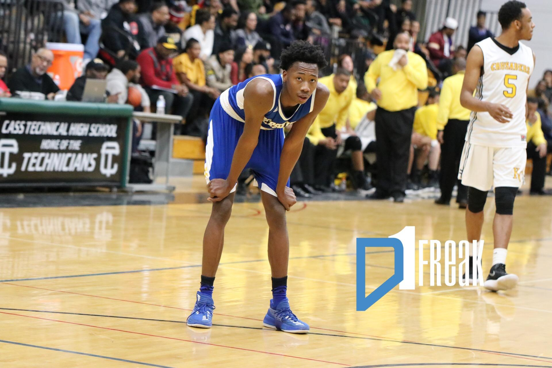 Charles Brown (18/Detroit Pershing) PSL Quarterfinal Highlights