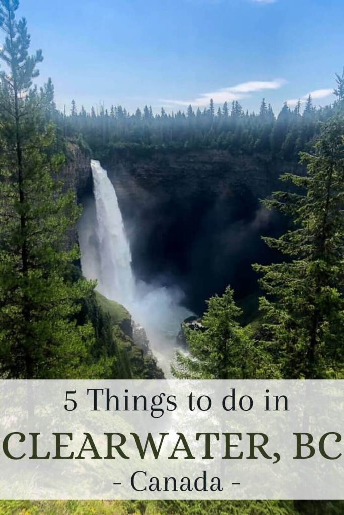 Blog Post pin for travel blog - 5 things to do in Clearwater, BC