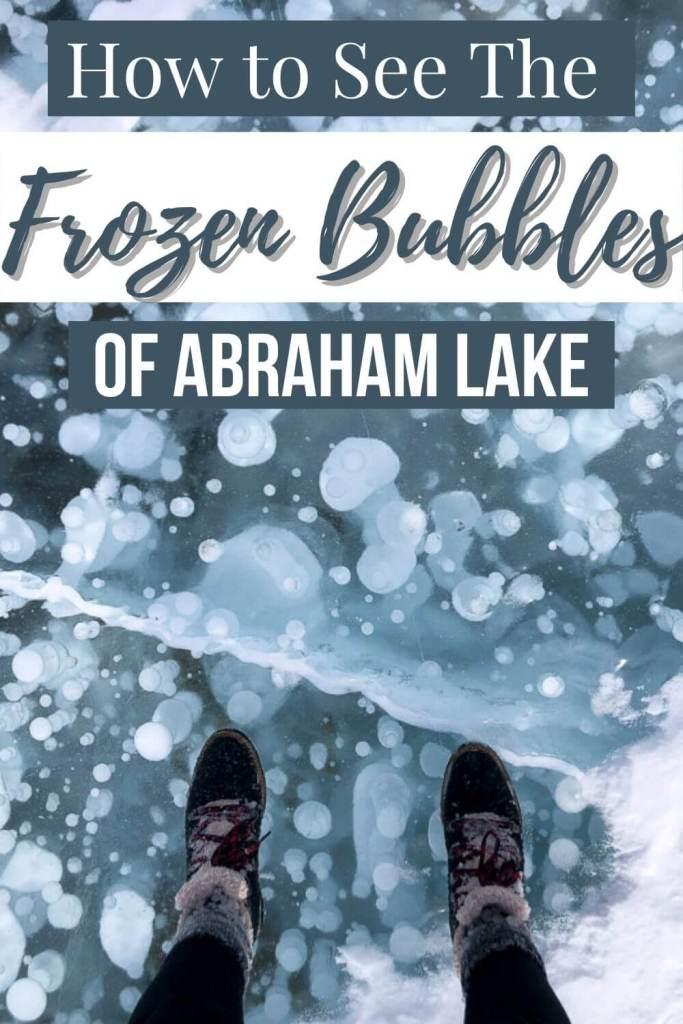 Pinterest image of Abraham Lake