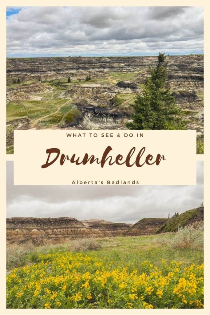 Pinterest pin for things to do in Drumheller, Alberta
