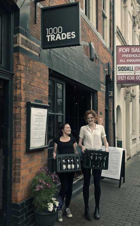 Amber, Basalt und Flint aus der Weschnitztaler Braumanufaktur im 1000 Trades in Birmingham
