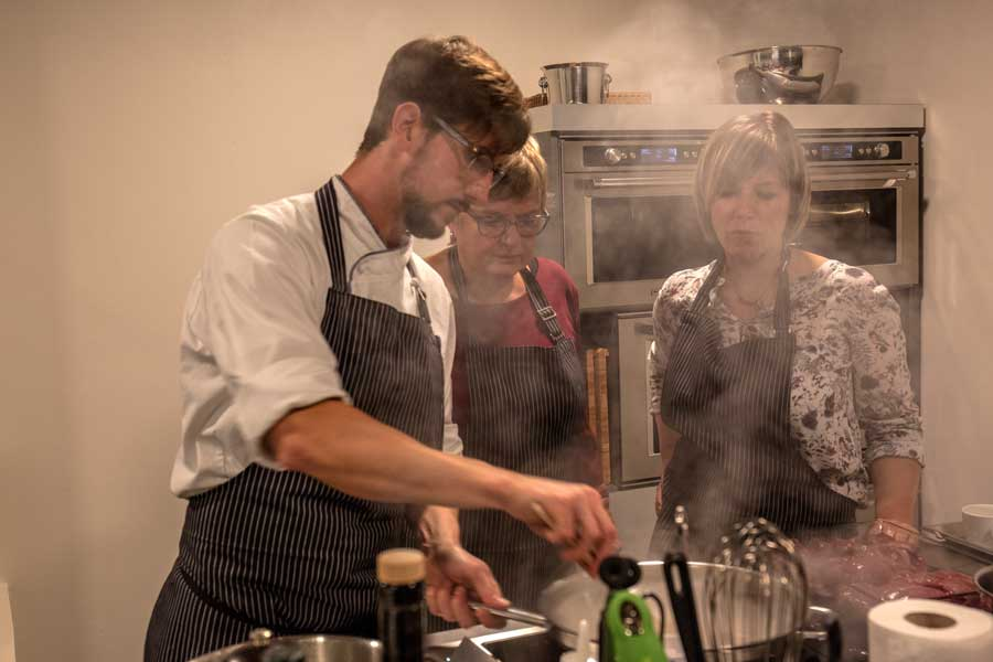 Maronen-Creme-Suppe beim Kochkurs im Labsal